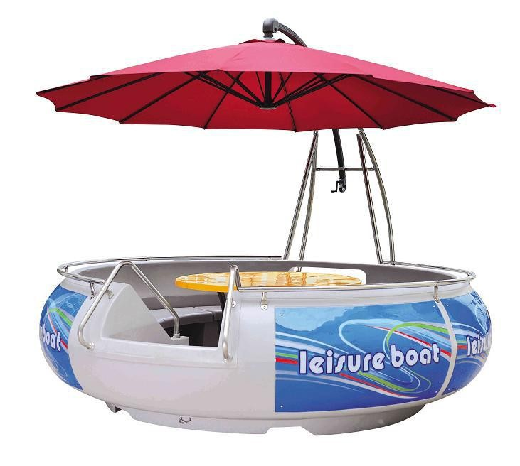 Popular new water BBQ leisure boat, BBQ Donut Boat,Hight Cuticle aligned electri
